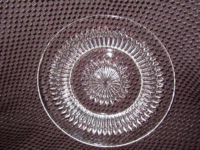 Jeannette Glass Anniversary Clear Bread & Butter Plate