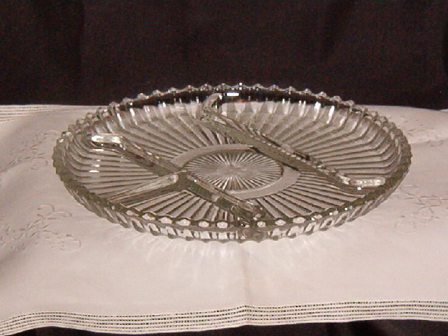 Libbey Rock Sharpe  #5331 Relish Tray