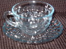 Anchor Hocking  Bubble Blue  Cup & Saucer