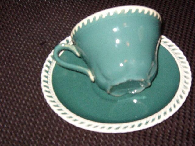 Harker Corinthian Teal Cup & Saucer