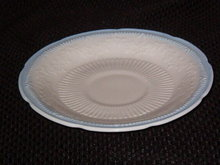 Anchor Hocking Alice Ivory (Blue Trim) Saucer