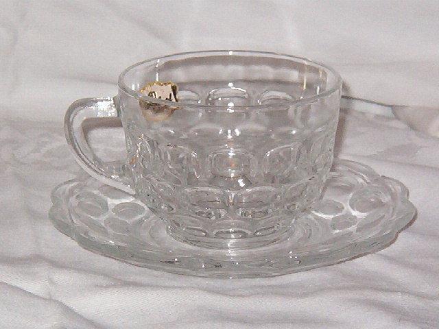 Federal Glass  Yorktown  Cup & Saucer