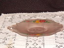 Frosted Pink Two Handled Tray