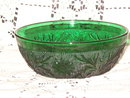 Anchor Hocking  Sandwich Forest Green Bowl