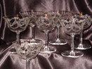 7 Fostoria  Victory Etch #257  Champagne Tall Sherbet
