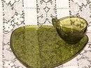 Anchor Hocking Daisy & Button Green Snack Set