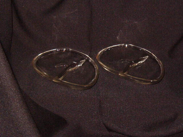 Pair Vintage Divided Relish Dishes