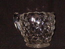 Jeannette Glass Cube Clear Creamer & Sugar