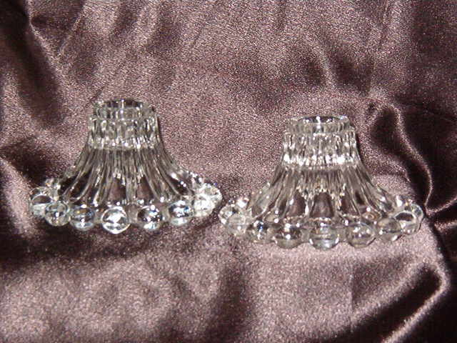 Anchor Hocking Boopie Clear Candlestick