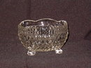 Indiana Glass Diamond Point 3 Toed Crimped Bowl