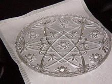 Anchor Hocking Early American Prescut Clear Platter