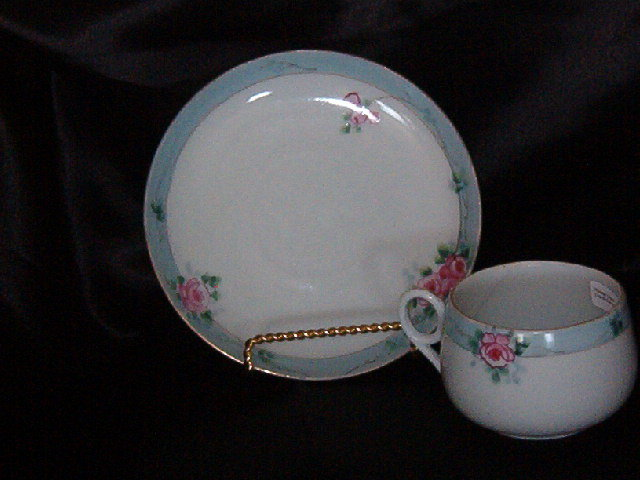 Japan Hand Painted  Cup & Saucer