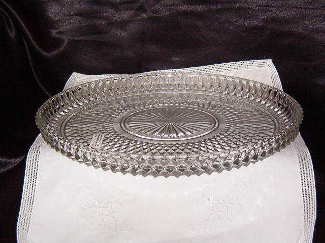 Indiana Glass Diamond Point Tray
