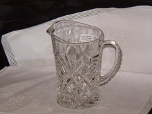 Anchor Hocking Prescut Pineapple Milk Pitcher