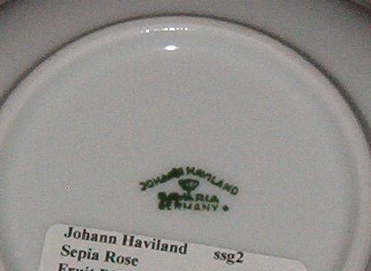 Johann Haviland Sepia Rose Fruit Bowl