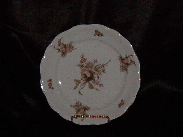 Johann Haviland Sepia Rose Salad Plate