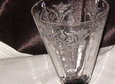 Elegant Glass Black Footed Etched Glass