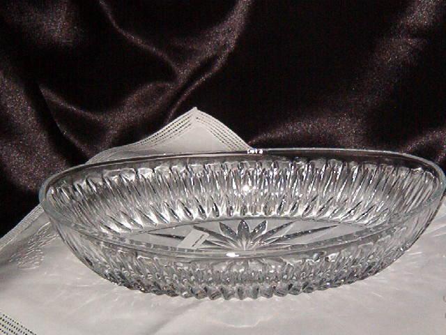Oval Crystal Dish