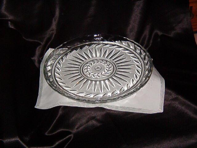 Round Crystal Sandwich Tray