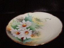 Hand Painted Daisy Plate Signed