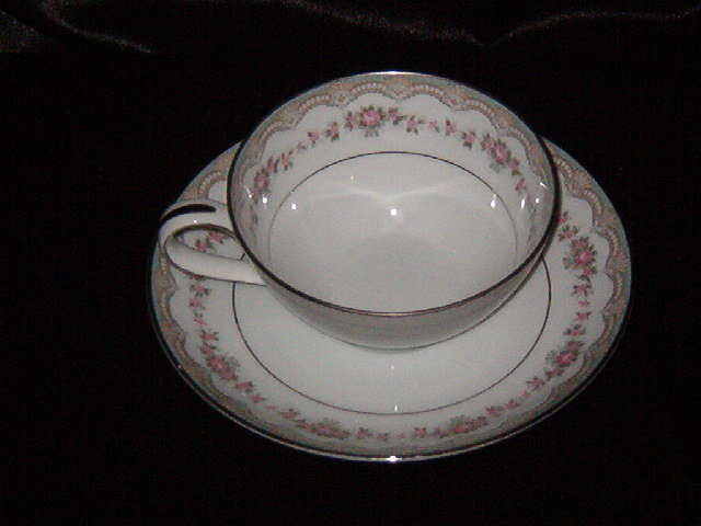Noritake China Glenwood  Cup & Saucer
