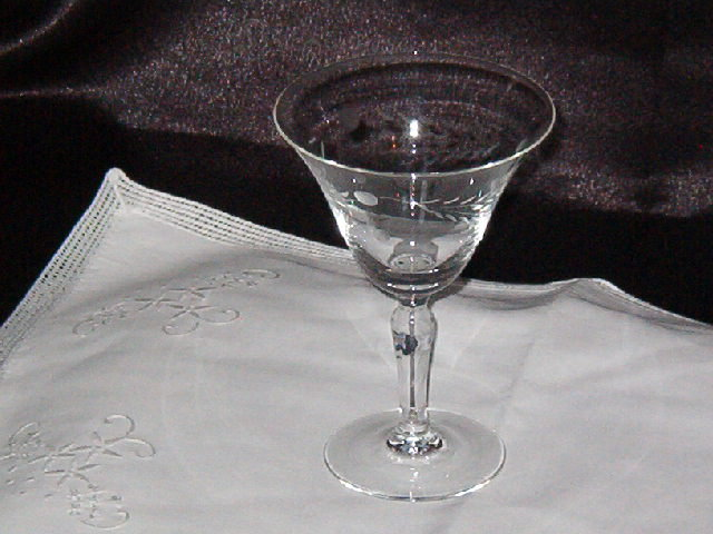 Etched Crystal Liquor Coctail