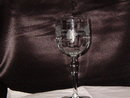 Etched Crystal Water Goblet