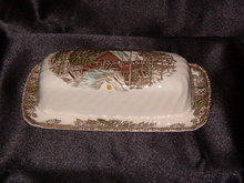 Johnson Brothers The Friendly Village  1/4 Pound Butter Dish