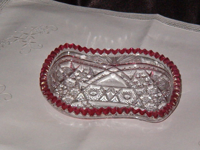 McKee Glass Co Fentec Olive Dish