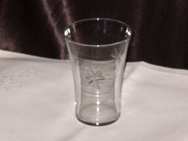 Etched Juice Glass