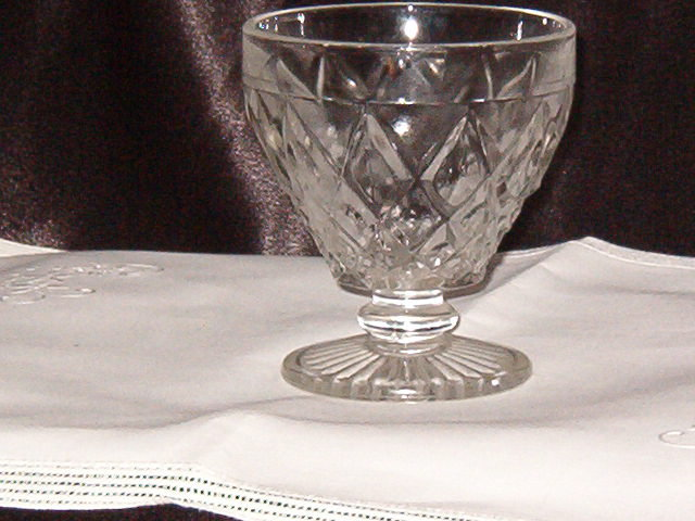 Hazel Atlas  Diamond Thumbprint Champagne/Tall Sherbet