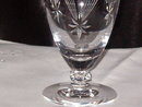 Crystal  Star Etched Stemware  Ice Tea