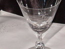 Crystal  Star Etched Stemware  Water Goblet