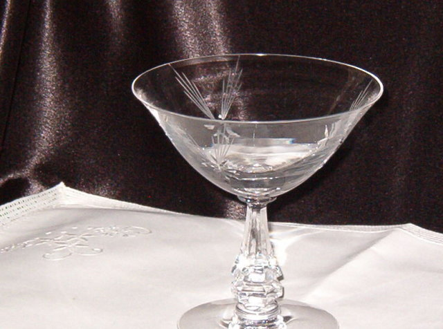 Crystal  Star Etched Stemware  Champagne/Sherbet