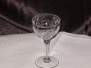 Vintage Etched Stemware - Sherry