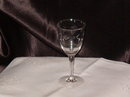 Vintage Etched Stemware  Wine