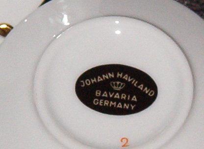 Johann Haviland Twilight Rose Cup & Saucer
