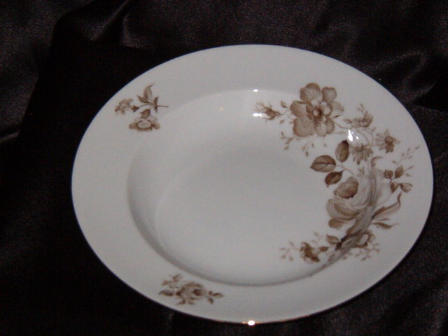 Johann Haviland Twilight Rose Rimmed Soup Bowl