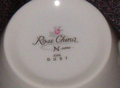 Rose China Duet Cup