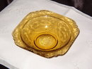 Federal Glass Madrid Amber 1976 Soup Bowl