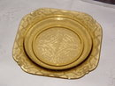 Federal Glass Madrid Amber 1976 Salad Plate