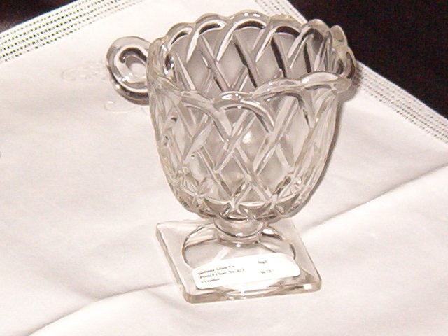 Indiana Glass Co. Pretzel Clear Creamer