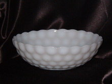 Anchor Hocking Bubble Milk Glass Bowl