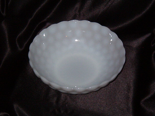 Anchor Hocking Bubble Milk Glass Bowl