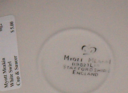 Myott Meakin MYM8 Cup & Saucer
