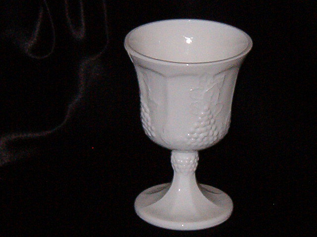 Colony Harvest Milk Glass Goblet