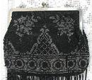 Vintage Beaded Purse, Black & Silver