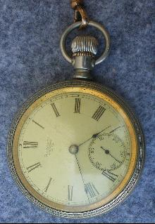 Vintage American Watch Co. Waltham Open Face Pocket Watch - Coin Silver