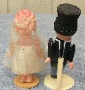Vintage 1930's Celluloid Dolls Bride and Groom Cake Toppers 4 ½