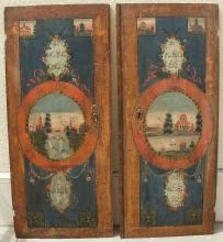 1770 Antique 2 Hand Painted Kast Sewdish Wedding Doors w/Provenance 51